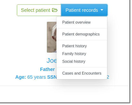 MediSign EHR Sections