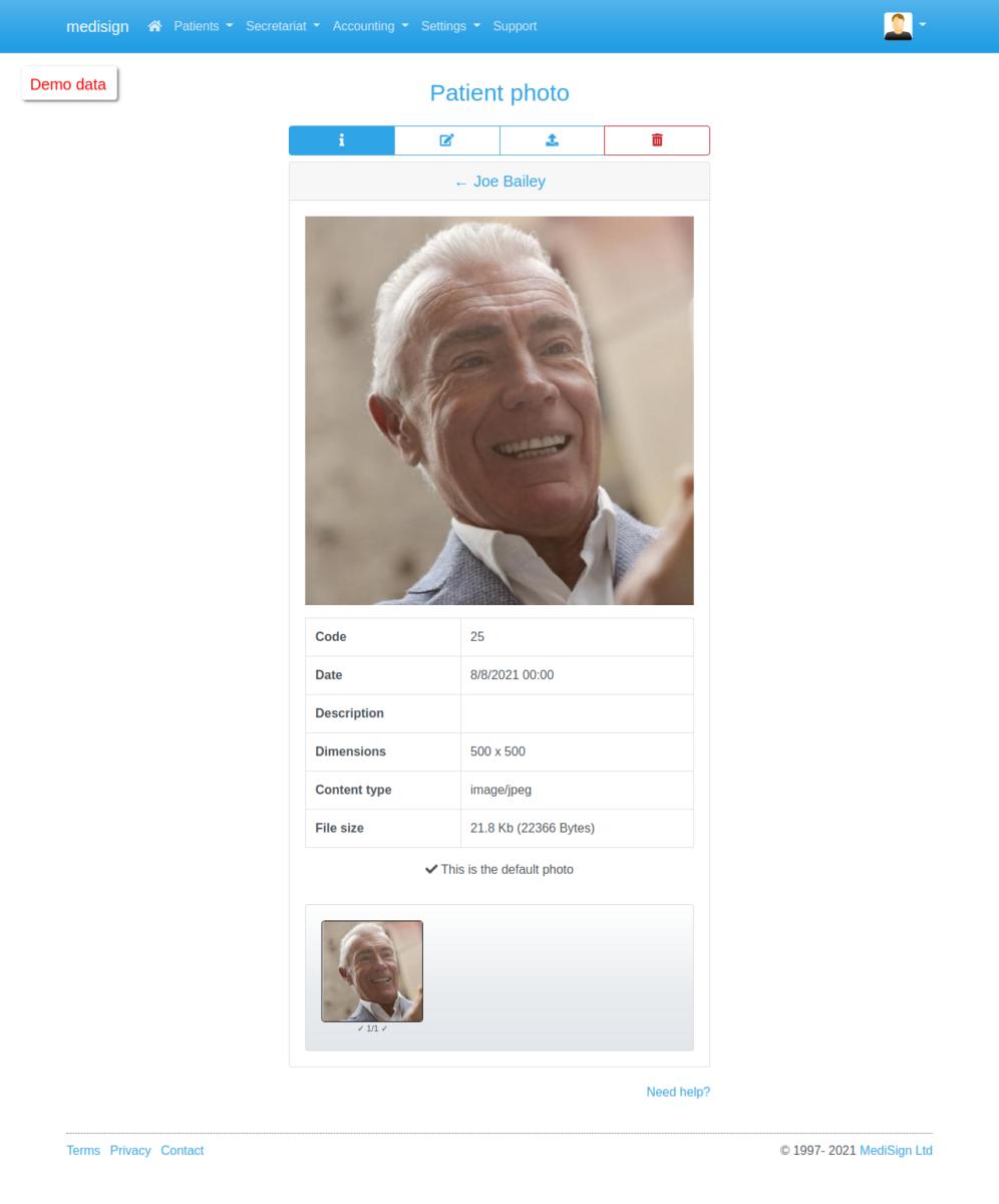 MediSign.com Screenshots - Patient photo